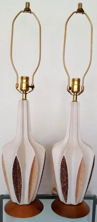 Mid-Century Modern Ceramic Table Lamps - Pair | Chairish