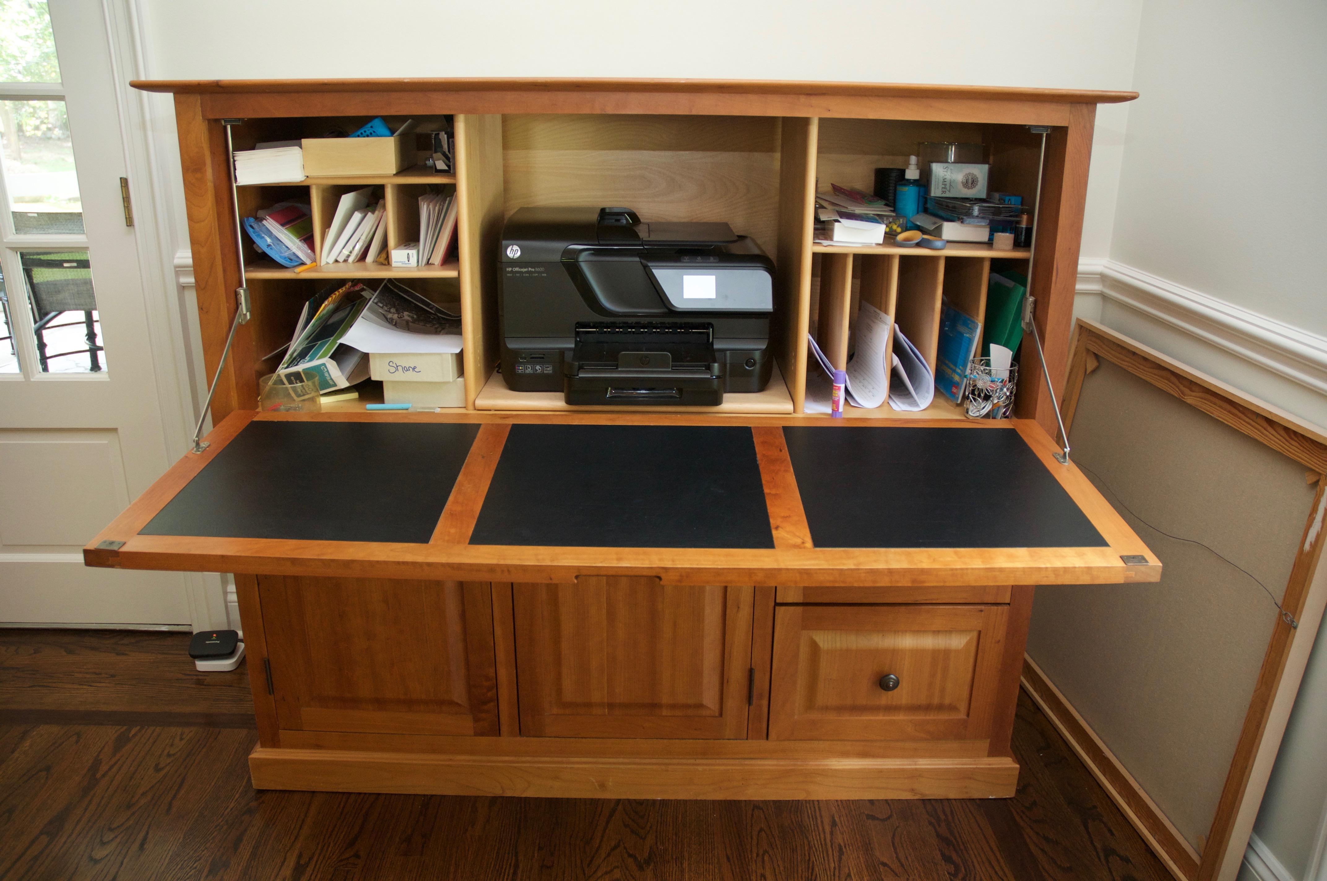Copeland Furniture Cherry Wood Hideaway Desk  Chairish