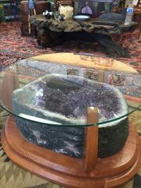 Amethyst Crystal Geode Coffee Table | Chairish