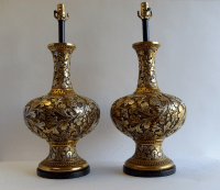 Hollywood Regency Rococo Table Lamps by Fortune - a Pair ...
