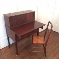 Mahogany Writing Desk & Chair | Chairish