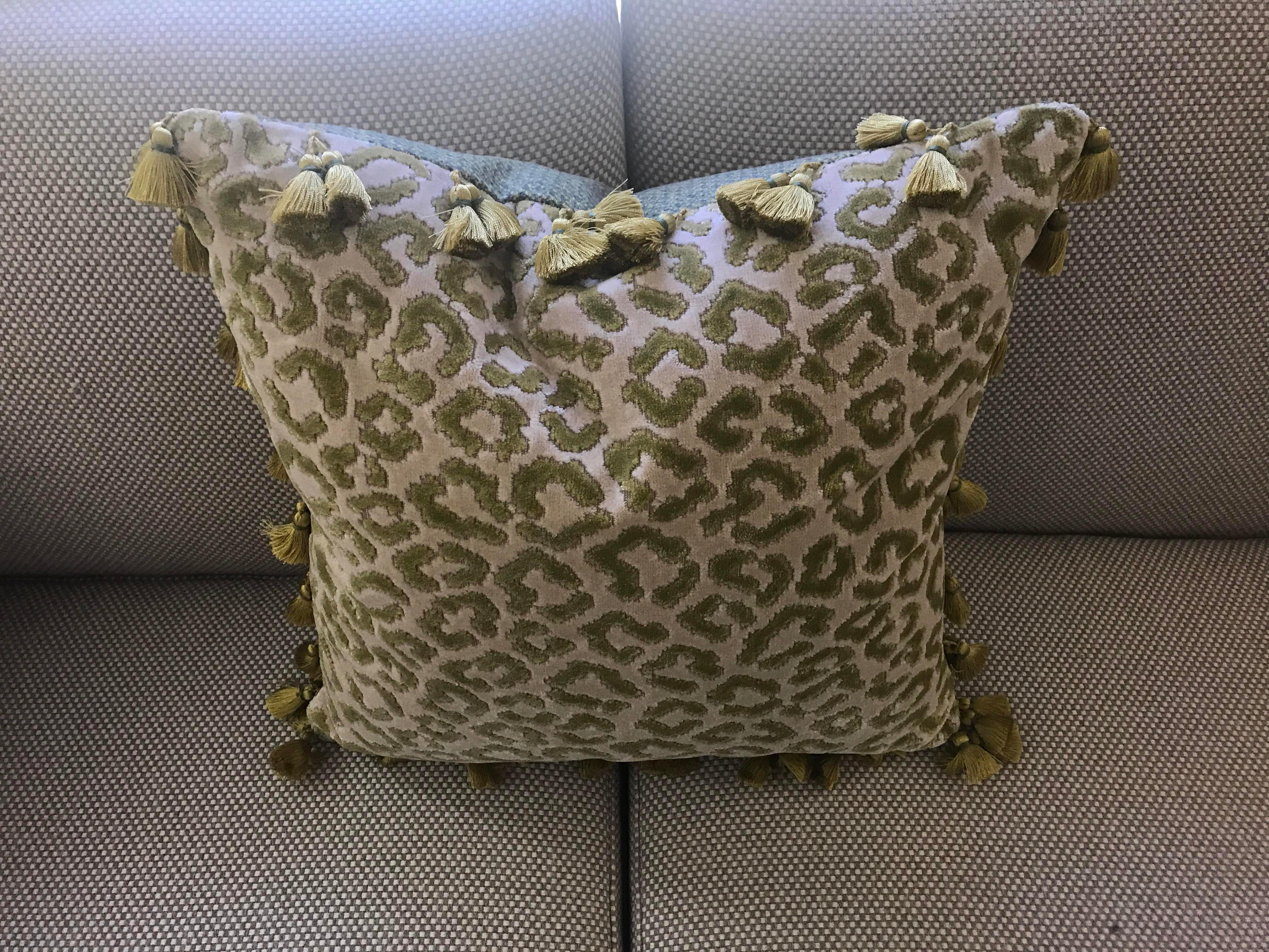 Tassel Trim Decorative Pillow