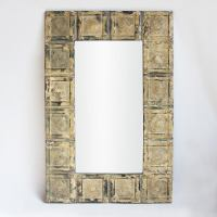 Vintage Tin Ceiling Tile Mirror