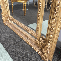 Gilded Scrolling Floor Mirrors - A Pair | Chairish
