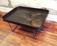 Large Deep-Sided Tray Coffee Table | Chairish