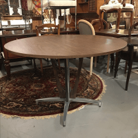 Mid Century Modern Aluminum Pedestal Dining Table | Chairish