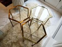 Mastercraft Mid Century Brass Glass Coffee Tables - Set of ...