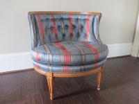Mid-Century Modern Blue Tub Chair   Chairish