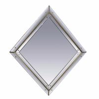 Diamond Shaped Regency Style Mirror | Chairish