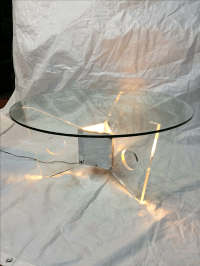Light-Up Lucite Coffee Table | Chairish
