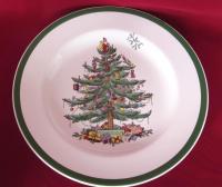 Spode Christmas Tree Dinner Plates - Set of 8 | Chairish