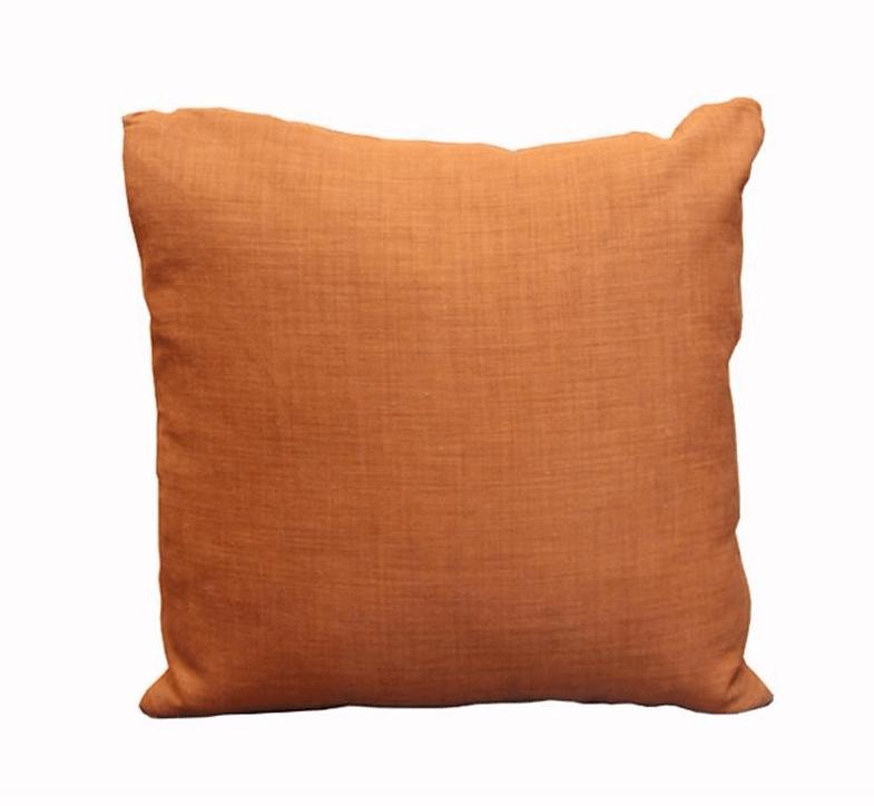 Rust Orange Linen Throw Pillows  A Pair  Chairish