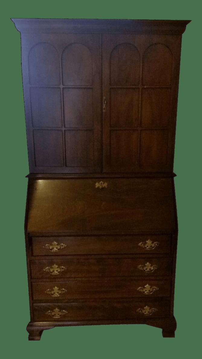 Vintage Jasper Cabinet Co Secretary Desk  Chairish