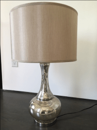 Steinmart Mercury Antiqued Glass Table Lamp | Chairish