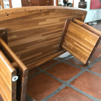 Vintage Butcher Block Coffee Table | Chairish