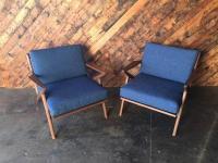Mid Century Custom Selig Style Z Chair | Chairish