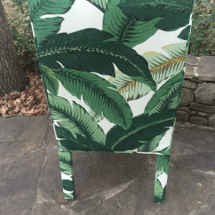 Black And White Accent Chairs With Arms Portable High Chair Chicco Palm Leaf Upholstered Parsons | Chairish