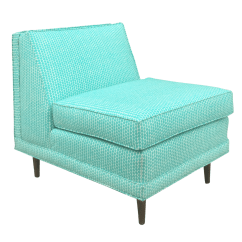 Wh Gunlocke Chair Gray And Ottoman Slipcovers Vintage & Used Turquoise Accent Chairs | Chairish