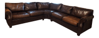 Bernhardt Grandview Sectional Leather Sofa | Chairish