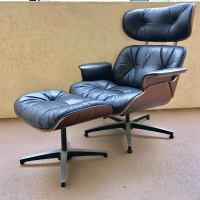 Mid-Century Eames Style Lounge Chair & Ottoman Set | Chairish