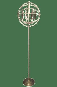 Spherical Restoration Hardware Floor Lamp | Chairish