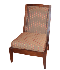 Vanguard Wooden Upholstered Accent Chair   Chairish