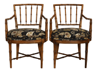 Drexel Heritage Faux Bamboo Chairs - A Pair | Chairish