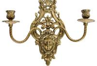 2-Arm Art Nouveau Candle Wall Sconce | Chairish