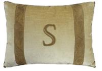 "Initial Pillow ""S"""