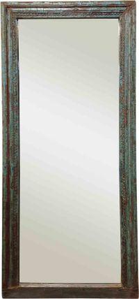 Turquoise Blue Framed Mirror   Chairish
