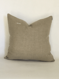 Vintage African White Mudcloth Pillow | Chairish