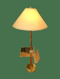 Mid Century Modern Lucite Table Floor Lamp | Chairish