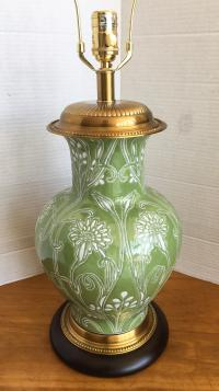 Frederick Cooper Green Vase Table Lamp With Shade
