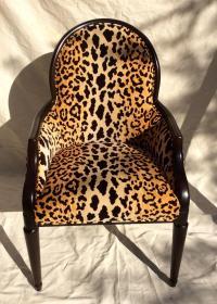 Velvet Animal Print Accent Chair | Chairish