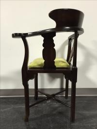 Lane Vintage Mid-Century Corner Chair | Chairish