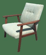 Mid-Century Danish Modern Teak Lounge Chair | Chairish