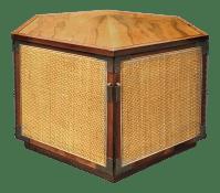 Mid-Century Lane Hexagon Storage Side Table   Chairish