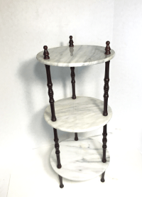 Mid-Century 3-Tier Marble Table Plant Stand | Chairish