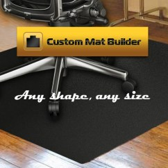 Acrylic Desk Chair Mats Folding Plans For Carpeting Thickest Most Durable Custom