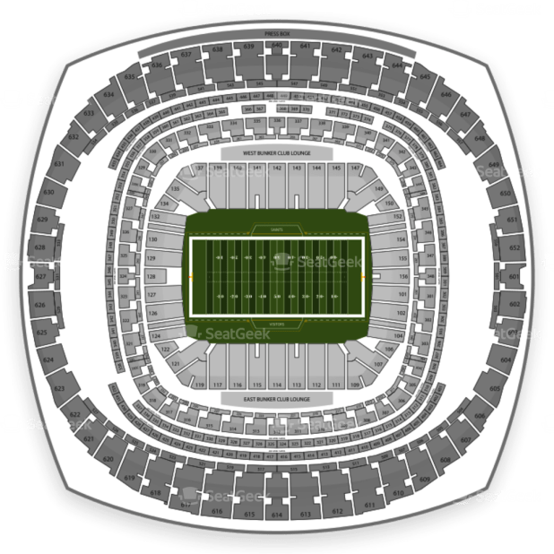 Mercedes benz superdome virtual seating chart for Mercedes benz stadium seating chart atlanta united