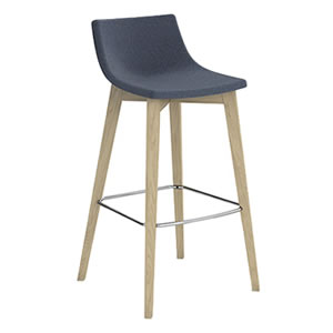Miss #04. Bar stool with Upholstered seat
