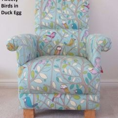 Adult Egg Chair Armrest Cushion Office Tweety Birds Fabric Duck Armchair Nursery Nursing Bird Bedroom