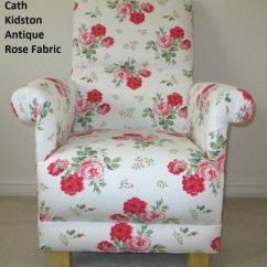 Floral Arm Chair Mobile Barber Cath Kidston Antique Rose Fabric Adult Pink Armchair Shabby Chic Bedroom White Flowers