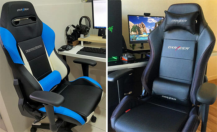 dxracer chair cover stressless prices drifting series gaming review chairsfx drift black and blue chairs