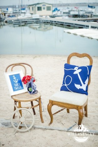 nautical theme wedding, brown vintage chairs, chairs with character, chair rental colorado, chair rental denver, cherry creek marina