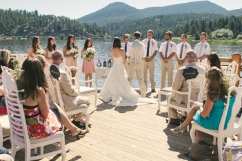 Image Created by Tim Kippel, Evergreen Lakehouse, white mismatched vintage chairs by Chairs with Character, venue Evergreen Lakehouse in Evergreen CO