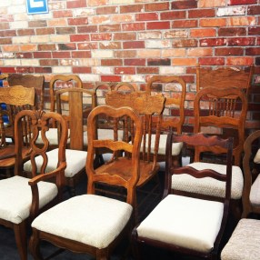 brown vintage chair rental denver colorado