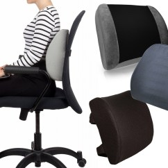 Best Office Chair For Lower Back Support Cream Desk Uk Lumbar Cushion And