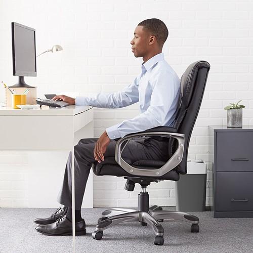 Amazon Basics High Back Executive Chair - leather office chairs amazon