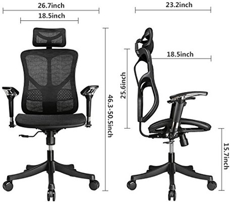Argomax Mesh Ergonomic Chair - ergonomic office chair with neck support